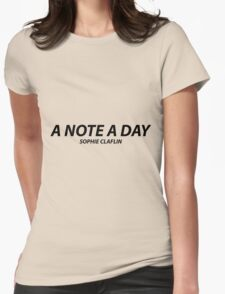 A Note A Day, Sophie Claflin Womens Fitted T-Shirt