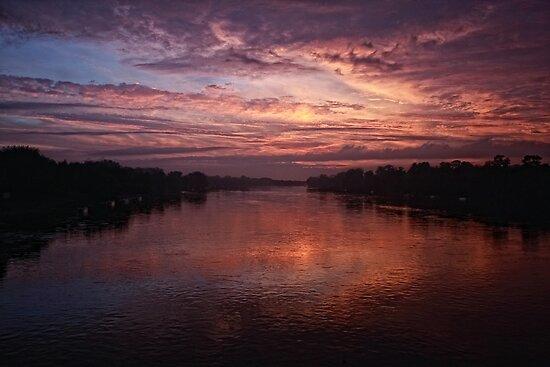 Golden Sunset by Angela King-Jones