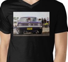 QUPNCY Tread Cemetery Skid Mens V-Neck T-Shirt
