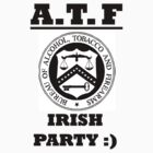 ATF party on black print. by Stephen Kane