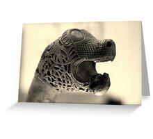 Viking beasts : Carved head 1 Greeting Card