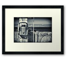 Telephone by the sea Framed Print