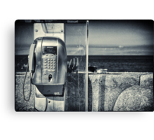 Telephone by the sea Canvas Print