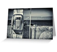 Telephone by the sea Greeting Card