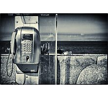 Telephone by the sea Photographic Print