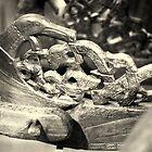 Viking longship carving detail : 1 by CliveOnBeara