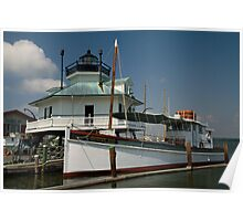 Mr. Jim and Hooper Strait Lighthouse Poster