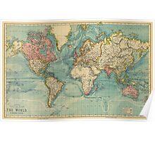 vintage map  Poster