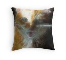 Electric Feline Throw Pillow