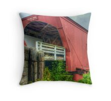 Holliwell Covered Bridge Throw Pillow