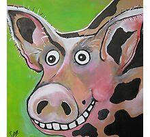 Mr Pig Photographic Print