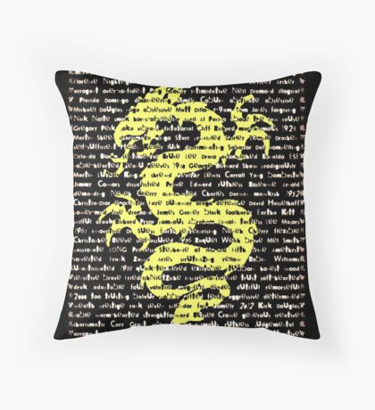 """The Year Of The Dragon"" Cards Throw Pillow"
