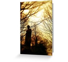Monument in the woods Greeting Card