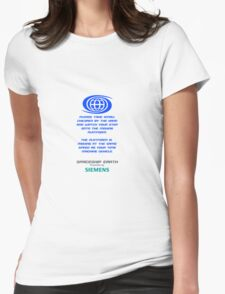 Spaceship Earth Boarding Narration  Womens Fitted T-Shirt