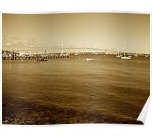 The Pell Bridge - Jamestown to Newport, Rhode Island Poster