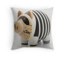 Bad Piggy! Throw Pillow