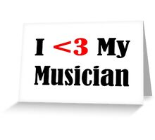 Musician Greeting Card