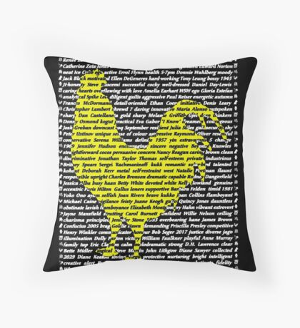"""The Year Of The Rooster / Cockerel"" Cards Throw Pillow"
