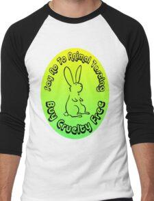 Buy Cruelty Free Men's Baseball ¾ T-Shirt
