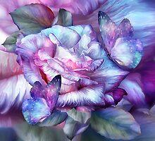 Purple Rose And Butterflies by Carol  Cavalaris