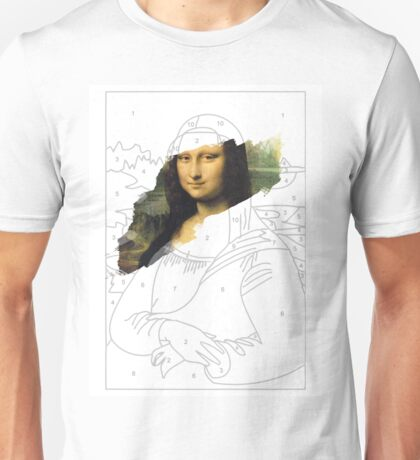 Mona Lisa by Numbers Unisex T-Shirt