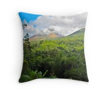 Sulawesi  -  forest & clouds Throw Pillow
