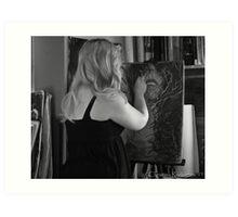 Process of Mine...Self Portrait Art Print
