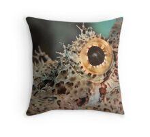 Scorpionfish eye, Lembeh Throw Pillow