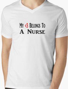 Nurse Mens V-Neck T-Shirt