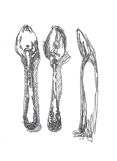 Three times spoon by Catrin Stahl-Szarka