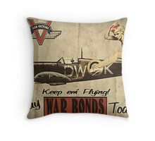 Vintage / Retro Pin Up Propaganda Throw Pillow