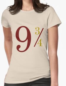 Nine and Three Quarters Womens Fitted T-Shirt