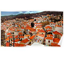 The  rooftops of Skiathos  Poster