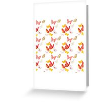 Nature insect pattern butterflies Greeting Card