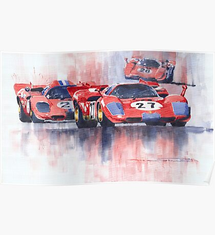Ferrari 512 S 1970 24 Hours of Daytona Poster