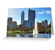 Perth City From Mounts Bay Road Greeting Card