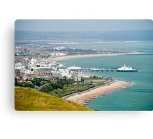 Eastbourne, Sussex, UK - From Beachy Head Canvas Print