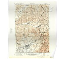 USGS Topo Map Washington Walla Walla 244504 1921 125000 Poster