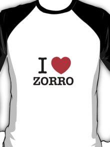 I Love ZORRO T-Shirt