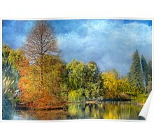 Reflections of Autumn - The Adelaide Royal Botanic Gardens Poster