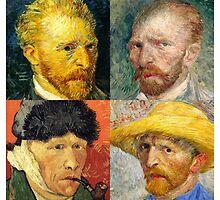 Vincent Van Gogh - 4 Self Portraits by Chunga