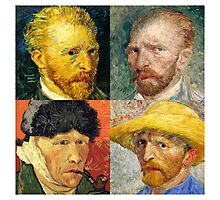 Vincent Van Gogh - 4 Self Portraits Photographic Print