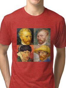 Vincent Van Gogh - 4 Self Portraits Tri-blend T-Shirt