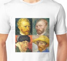 Vincent Van Gogh - 4 Self Portraits Unisex T-Shirt
