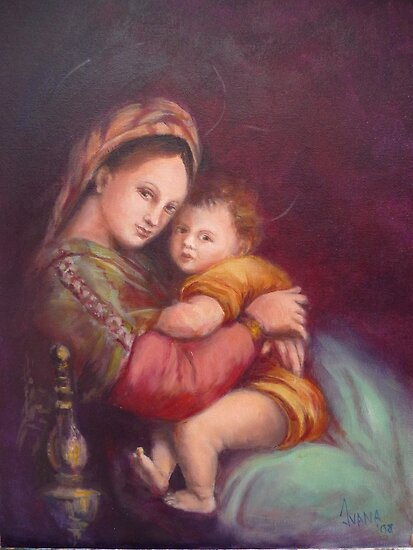 Madonna and child by Ivana Pinaffo