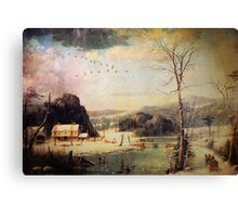 Christmas Scene Canvas Print