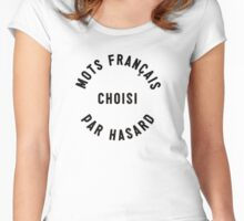 Random French Words Women's Fitted Scoop T-Shirt
