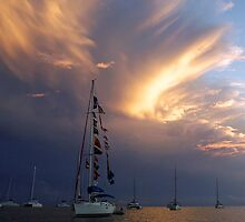 Stormy Sunset by Leon Heyns