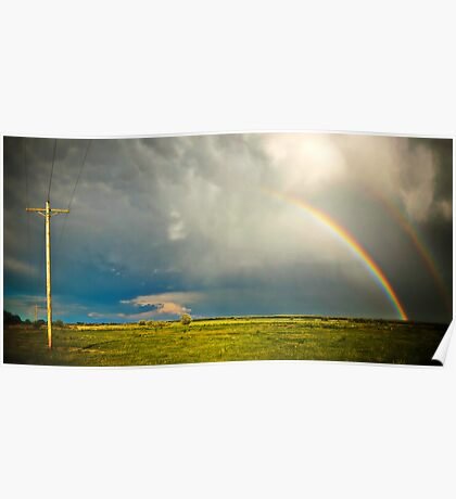 Sedgwick County Rainbow - Colorado Poster