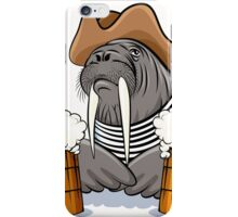 Humorous illustration of walrus with mugs full of beer.  iPhone Case/Skin
